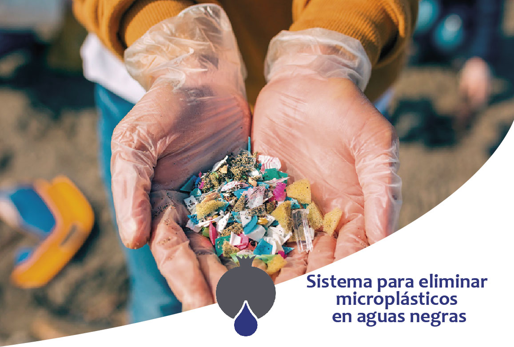 sistema para eliminar microplásticos en aguas residuales